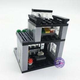 Hộp đồ chơi lắp ráp mô hình thành phố thu nhỏ quán Apple