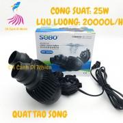 Quạt máy thổi luồng, tạo sóng 2 đầu cho hồ cá SOBO WP-800M 25W