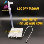 Bộ lọc đáy gồm ống mỏ vịt + đế Taiwan cho hồ cá BSA