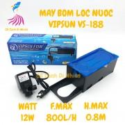 Bộ máy bơm + hộp lọc nước VIPSUN VS-188 cho hồ cá cảnh