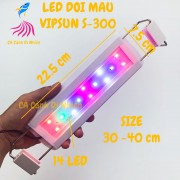 Đèn LED máng VipSun đổi màu cho hồ cá size 30 cm S-300