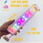 Đèn LED máng VipSun đổi màu cho hồ cá size 40 cm S-400