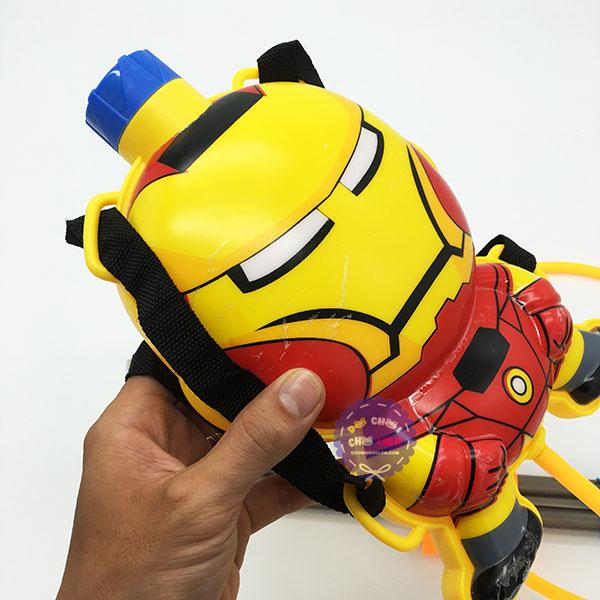 Bộ đồ chơi súng thụt nước 2 nòng & ba lô hình Iron Man