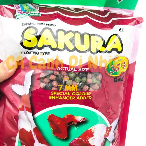 Thức Ăn Cá Koi Sakura Gold 2500g 35% - Cám Cá Cảnh HẠT LỚN 7MM