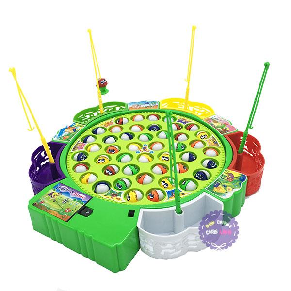 Hộp đồ chơi câu cá 5 người chơi 45 cá dùng pin có nhạc 9259