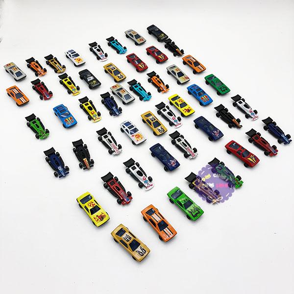 Hộp đồ chơi các loại xe hơi ô tô bằng sắt 50 chiếc 92753-50