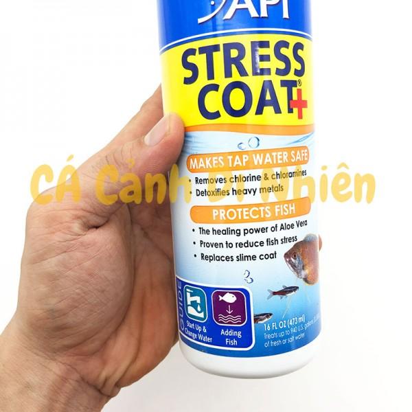 Dung dịch giảm Stress khử độc nước API STRESS COAT+ chai 473 ML