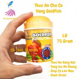 Thức ăn cho cá vàng GOLDFISH dạng HẠT lọ CAM 75 Gram