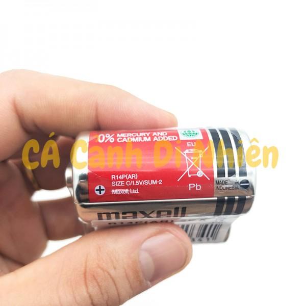 Bộ 2 viên Pin Trung Size C MAXELL 1.5V R14P(AR)