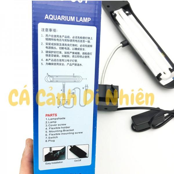 Đèn kẹp hồ cá mini màu trắng cho bể 40-50 cm RS-307