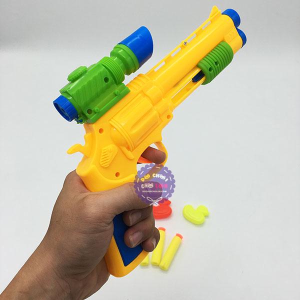 Vỉ đồ chơi súng ống dòm bắn đạn mút xốp mềm 16 banh & 2 vịt