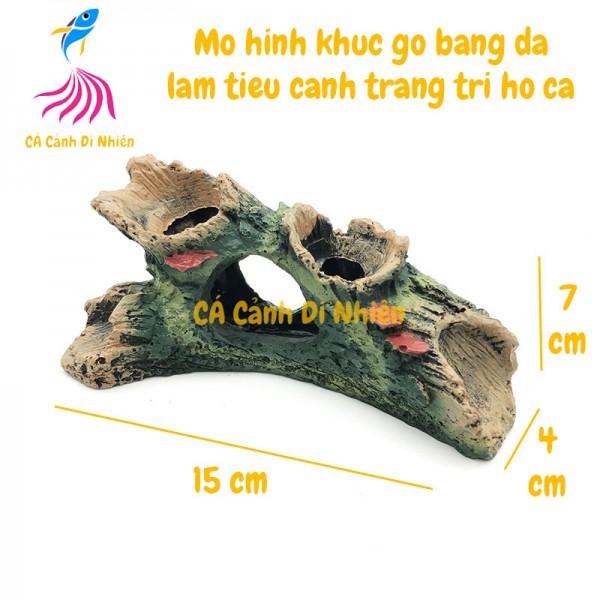 Mô hình khúc gỗ giả bằng đá trang trí hồ cá 8820