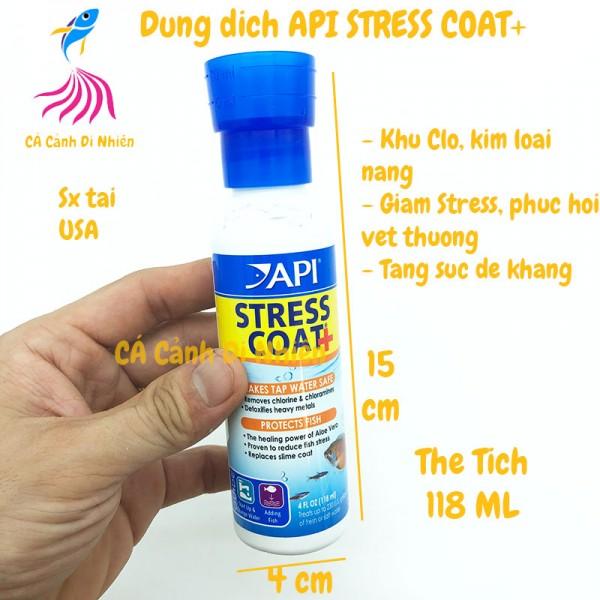 Dung dịch API STRESS COAT+ 118 ML giảm Stress khử độc nước cho hồ cá
