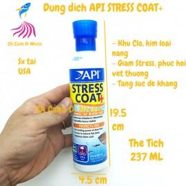 Dung dịch API STRESS COAT+ 237 ML giảm Stress khử độc nước cho hồ cá