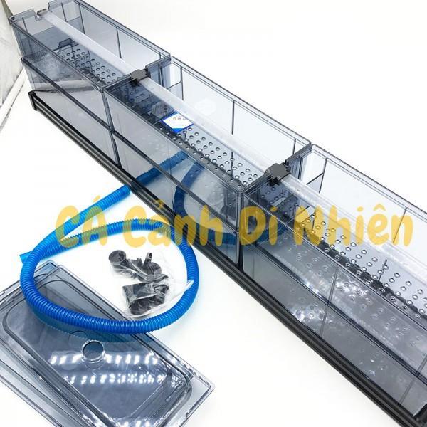 Bộ lọc dàn mưa 2 tầng 6 khay lọc SOBO F-90 bằng Mica cho hồ cá 80 - 100 cm