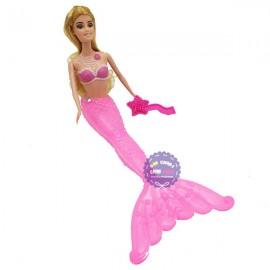 Đồ chơi búp bê nàng tiên cá có khớp đuôi bằng nhựa