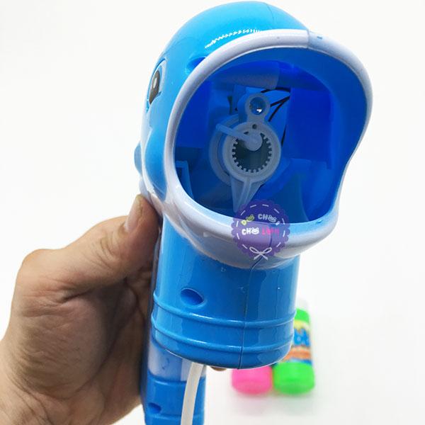 Vỉ đồ chơi súng xà bông cá heo 2 bình dùng pin 989-2A