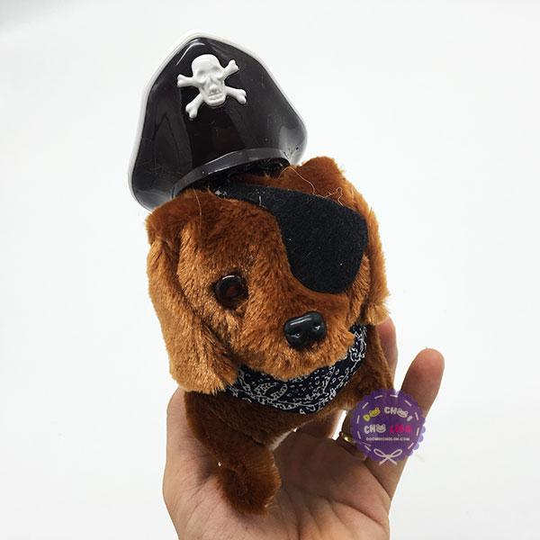 Đồ chơi chó hải tặc đội nón biết đi và sủa dùng pin có đèn