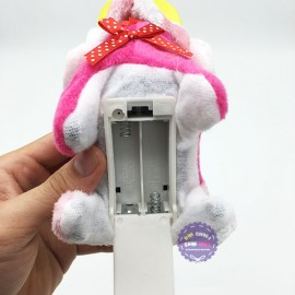 Đồ chơi chú chó đội nón bảo hộ biết đi và sủa dùng pin có đèn