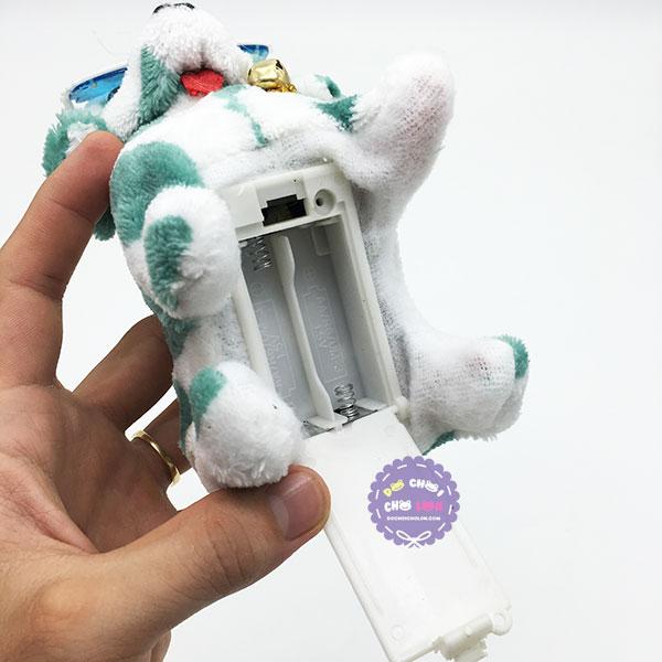 Đồ chơi chú chó đốm biết đi và sủa dùng pin có đèn