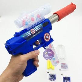 Hộp đồ chơi súng shotgun bắn đạn xốp đạn nước Đội trưởng Mỹ