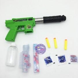 Hộp đồ chơi súng shotgun bắn đạn xốp đạn nước người khổng lồ xanh