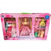 Hộp đồ chơi búp bê 9 bộ váy đầm dạ hội