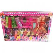Hộp đồ chơi búp bê 14 bộ váy đầm & gương trang điểm