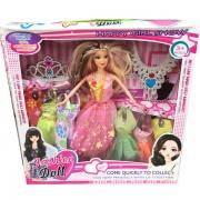 Hộp đồ chơi búp bê 6 bộ váy đầm & vương miện