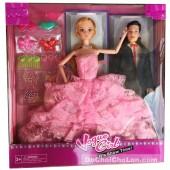Hộp đồ chơi búp bê cô dâu 11 khớp nối & chú rể Ken