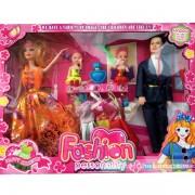 Hộp đồ chơi búp bê gia đình Barbie và chú rể Ken