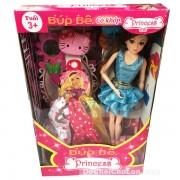 Hộp đồ chơi búp bê gái mặc váy 11 khớp nối & phụ kiện