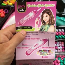 Hộp đồ chơi làm lọn tóc đính cườm Hair Beader