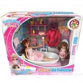 Hộp đồ chơi phòng tắm búp bê Lelia