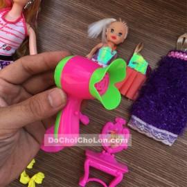 Vỉ đồ chơi búp bê gái 12 khớp nối, búp bê baby & phụ kiện