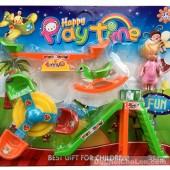 Vỉ đồ chơi công viên: cầu trượt, ngựa bập bênh, đu quay