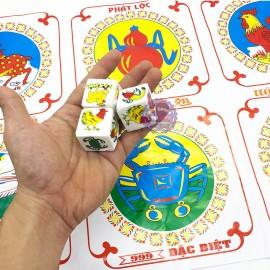 Bộ đồ chơi lắc bầu cua cá cọp xúc xắc bằng xốp