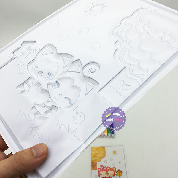 Bộ đồ chơi tô màu bút lông bằng nhựa