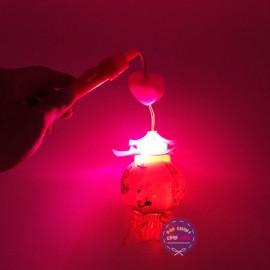 Lồng đèn trung thu đình 2 mái dùng pin có đèn nhạc thiếu nhi