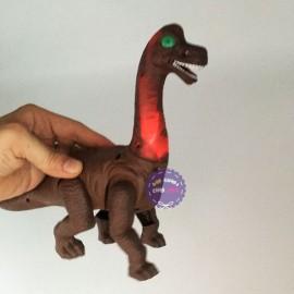 Hộp đồ chơi khủng long cổ dài mini dùng pin có đèn nhạc BN555