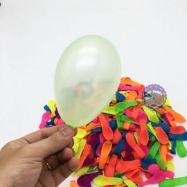 Bong bóng ném nước tròn trơn đủ màu 10 cm - 500 Cái/1 Bịch