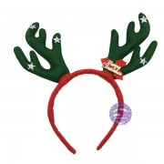 Băng đô cài tóc sừng tuần lộc Noel loại dày bằng vải nỉ