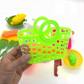 Bộ đồ chơi nấu ăn giỏ đi chợ bằng nhựa Bích Phương