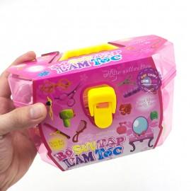 Hộp đồ chơi bộ sưu tập làm tóc 17 món phụ kiện bằng nhựa