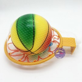 Bộ đồ chơi ném bóng rổ treo tường túi lưới bằng nhựa