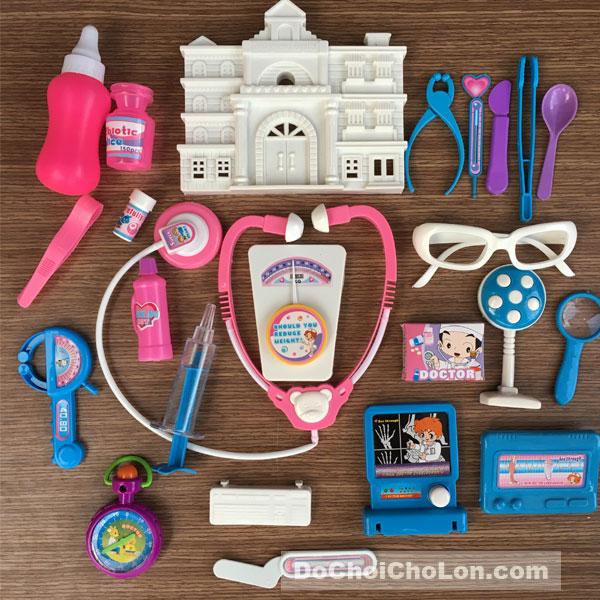 Đồ chơi túi bác sĩ ngôi nhà 24 món dụng cụ y tế
