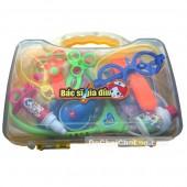 Hộp đồ chơi vali bác sĩ gia đình 19 món dụng cụ y tế