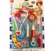Vỉ đồ chơi dụng cụ y tế & búp bê nhí