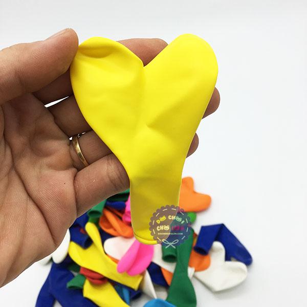 Bong bóng trái tim trơn đủ màu Thái Lan 25cm - 50 Cái/1 Bịch