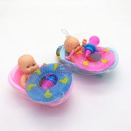 Bộ đồ chơi bồn tắm & phao bơi mini cho em bé túi lưới